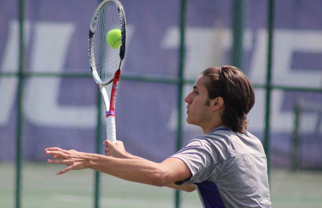 Caio Barros had a pair of wins, but it was not enough for Olivet Nazarene at the NAIA National Championships Monday.