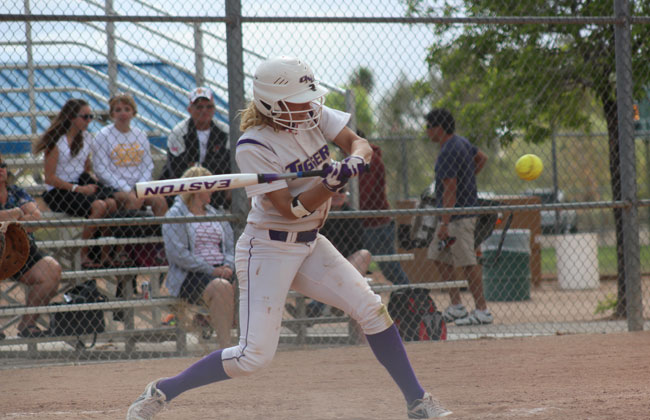 Hannah Gardner had three of Olivet Nazarene's nine hits on Friday.