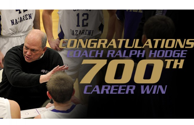 ONU and head coach Ralph Hodge defeated Purdue-Calumet 92-82 on Saturday, claiming career win No. 700