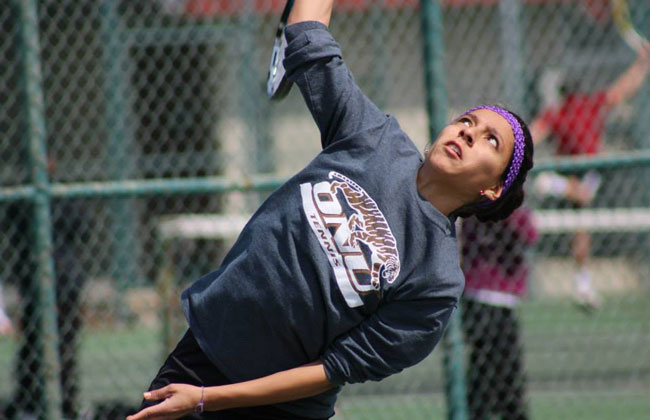 Olivet Nazarene's Priscila Nunez was named the CCAC Women's Tennis Player of the Year on Friday