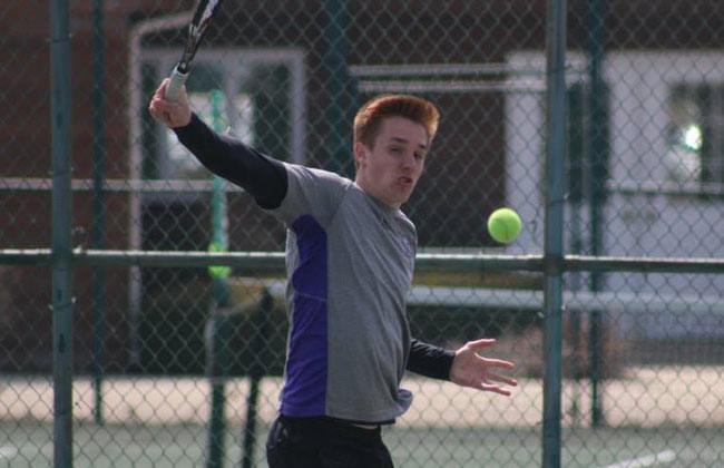 Olivet Nazarene's Navarro Veys is the 2014 CCAC Men's Tennis Player of the Year.