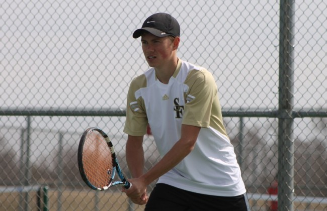 St. Francis' Mark Zubov won a pair of matches on Friday to send the Saints to the finals.