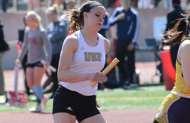 St. Francis' Jenna Moody was named the 2015 CCAC Outstanding Track Performer of the Meet on Saturday night.
