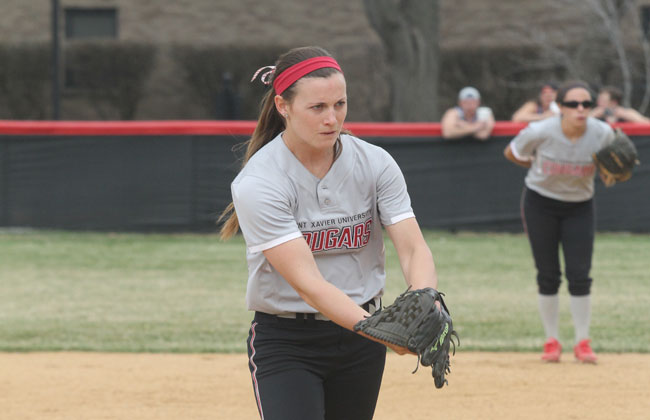Saint Xavier's Nicole Nonnemacher was named the CCAC Pitcher of the year for the second year in a row.