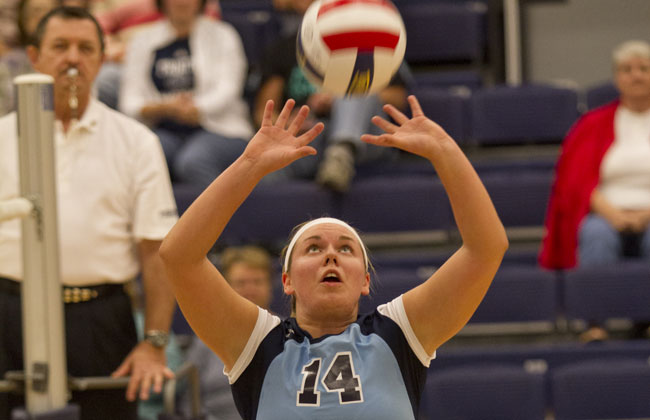Trinity Christian's Erynn Schuh claimed both the CCAC Player and Setter of the Year awards for 2014.