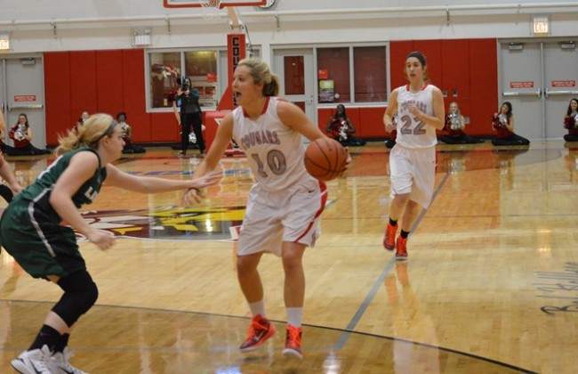 Morgan Stuut totaled 21 points and 14 rebounds in the Cougars' win late Friday night.