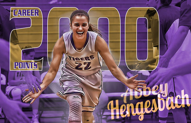 Hengesbach scored her 2,000th career point in Wednesday's upset win over No. 2 St. Francis (IL)