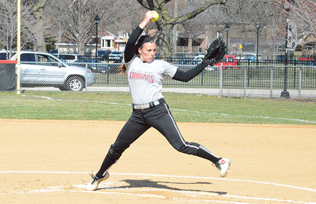 Saint Xavier's Nicole Nonnemacher threw two shutouts Friday, while allowing only one hit.