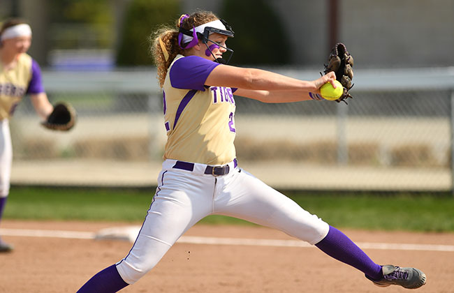 Olivet Nazarene's Emily Carstens was named the CCAC Softball Player of the Year on Thursday.