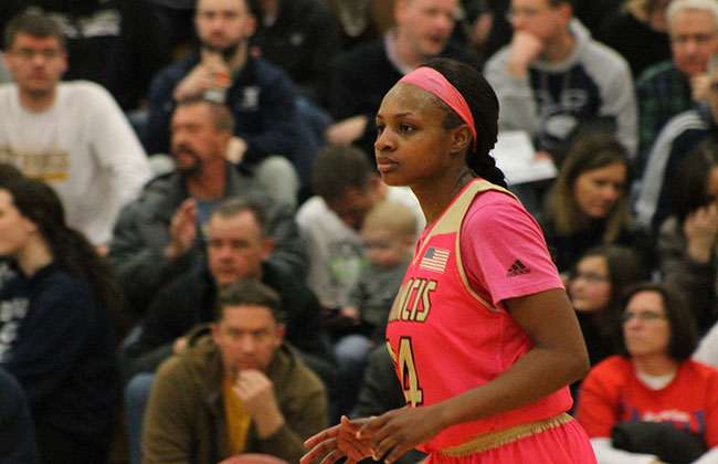 Christina Ekhomu played big for St. Francis in its semifinal-round win Saturday night.