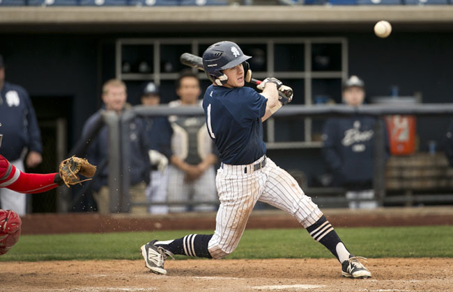 Zach Hart keyed St. Ambrose's 6-1 win with a two-run home run on Monday.