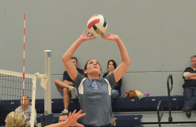 Trinity Christian's Tori Mantel was named both the CCAC Setter and Player of the Year on Saturday night.