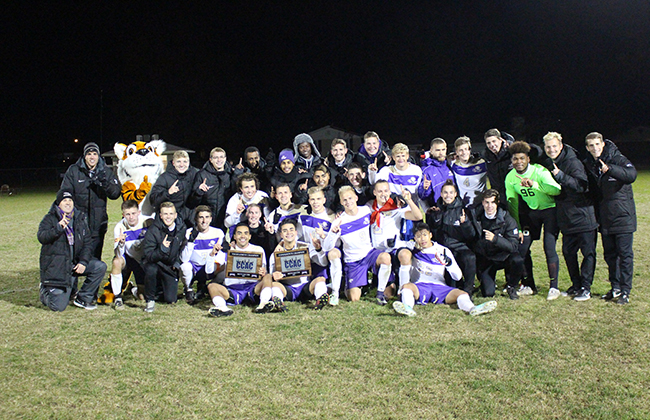 Olivet added the CCAC Tournament Championship to their Regular Season title with 2-1 overtime win over Cardinal Stritch.