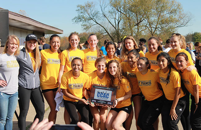 University of St. Francis captured the 2016 CCAC Women's Cross Country Championship on Saturday.