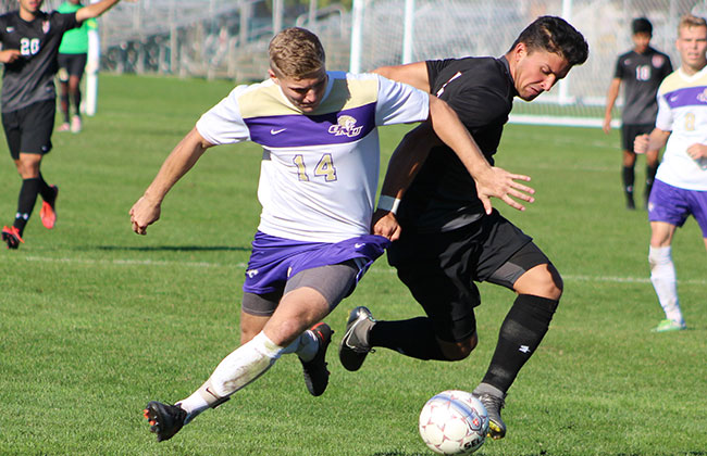 Olivet Nazarene's Blake Van Bruggen was named as the 2016 CCAC Men's Soccer Player of the Year on Friday night.